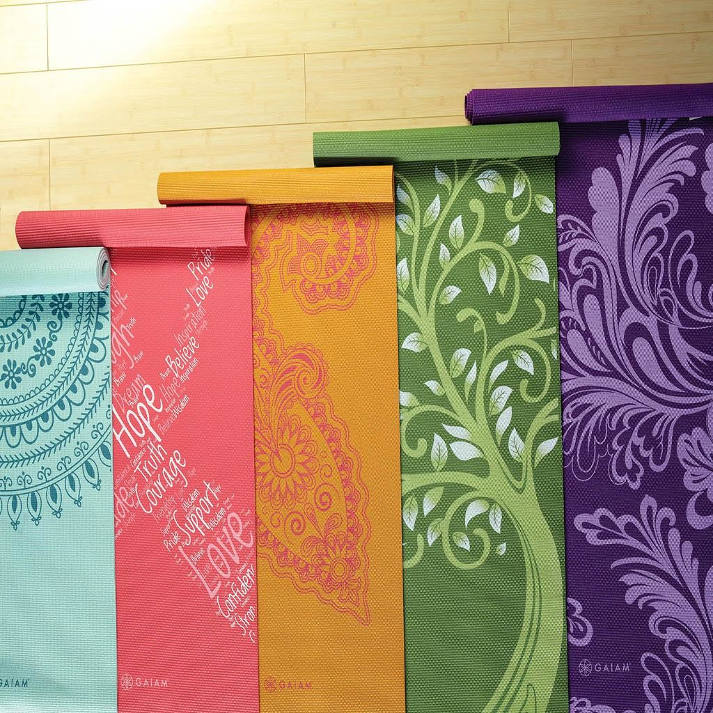 Gaiam print yoga mat review