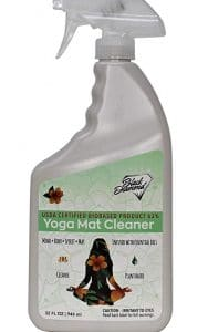 ways to clean a yoga mat - disinfect spray