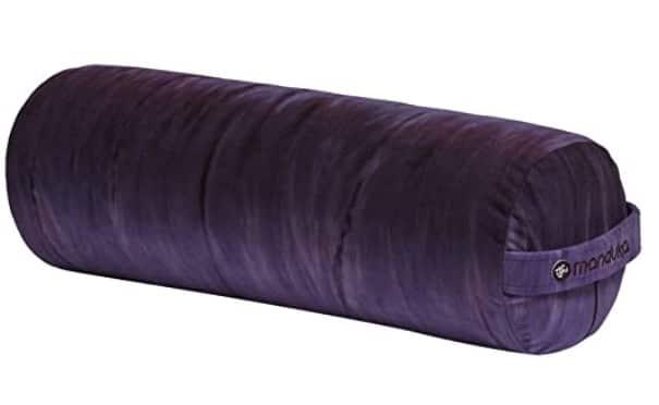 manduka round yoga bolster pillow