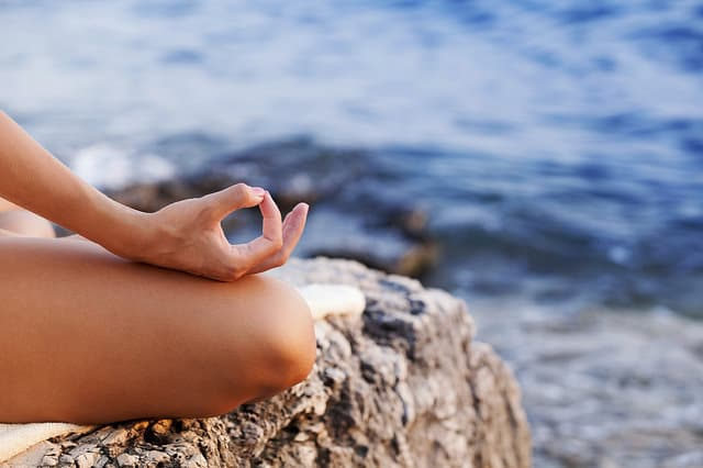 beach meditation yoga principles
