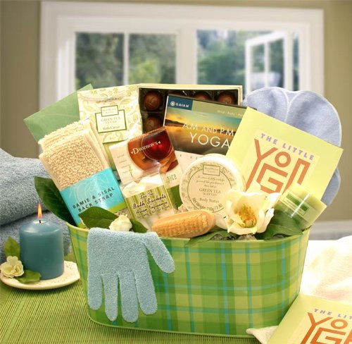 yoga gift basket set