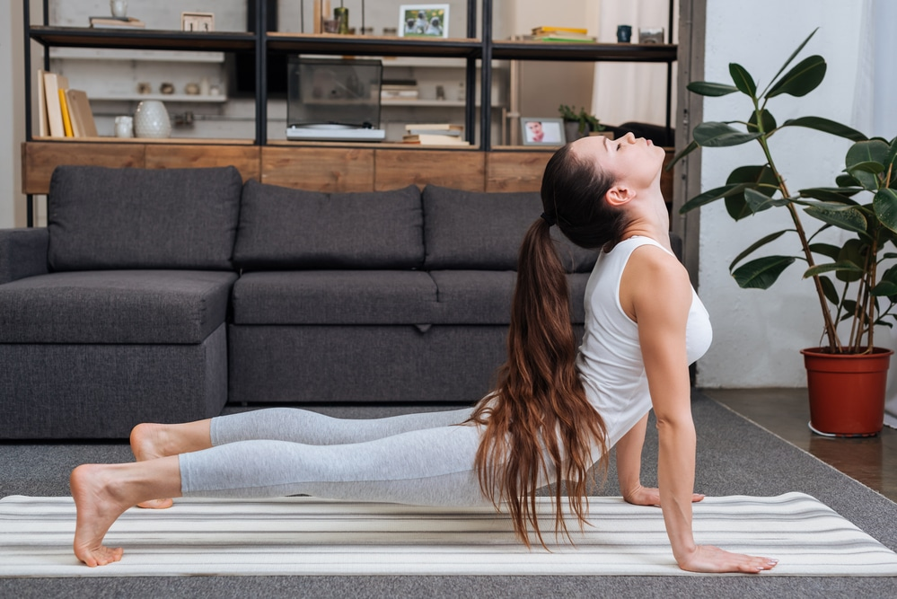 yoga at home routine living room