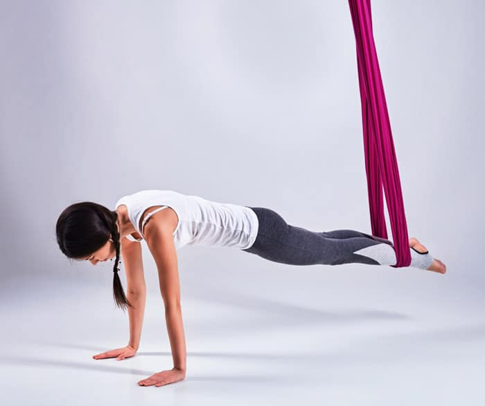 aerial yoga for beginners plank
