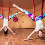 aerial yoga - funny yoga poses