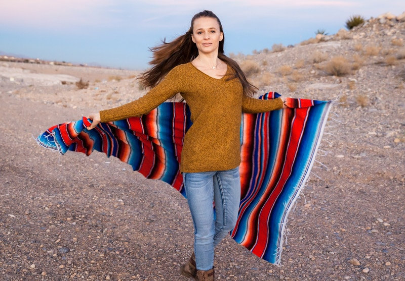 authentic mexican yoga blankets
