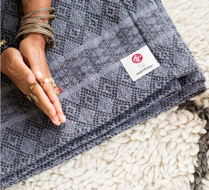 wool cotton yoga blankets