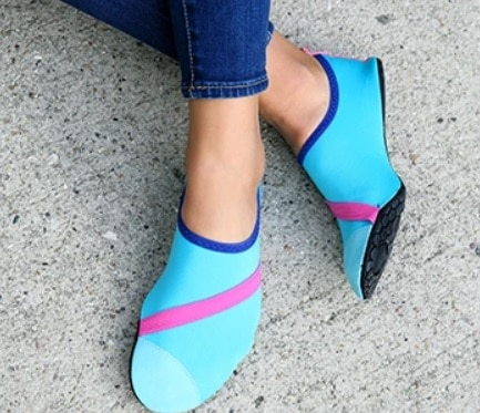 fitkicks slip on yoga shoes
