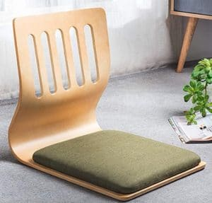 Japanese meditation chair with back support